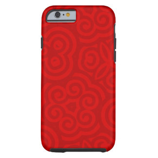 Rotes abstraktes Muster Tough iPhone 6 Hülle