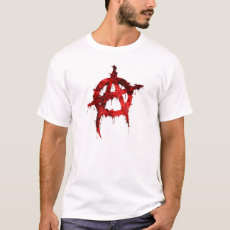 Rotes Anarchie-Symbol T-Shirt