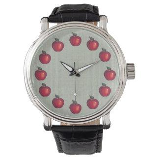 Rotes Apfel-Grün Armbanduhr