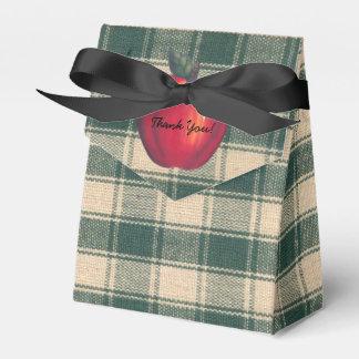 Rotes Apfel-Grün kariert Geschenkschachtel