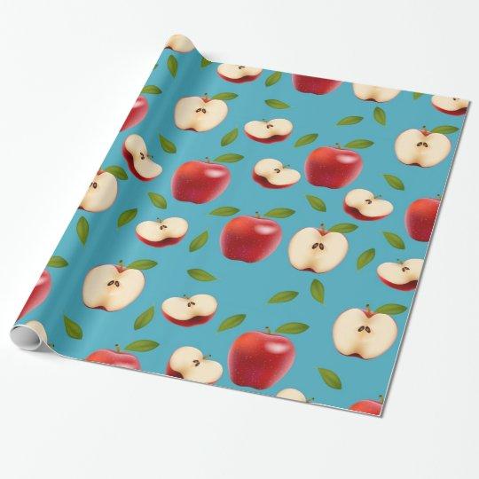 Rotes Apple kopieren Geschenkpapier