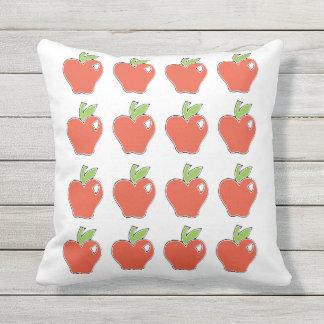 Rotes Apple kopieren Kissen Für Draußen