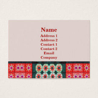 Rotes aquamarines Stern-Fliesen-Muster Visitenkarte