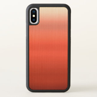 Rotes Aquarell Ombre iPhone X Hülle