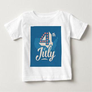 Rotes Blau der mutigen Vintagen Unabhängigkeit des Baby T-shirt
