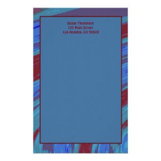 Rotes Blau-FarbSwish abstrakt Briefpapier