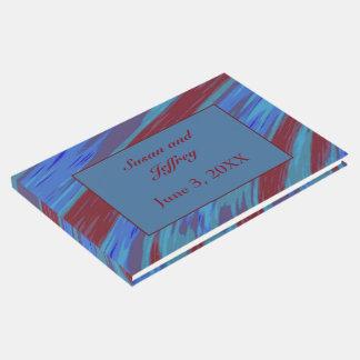Rotes Blau-FarbSwish abstrakt Gäste Buch