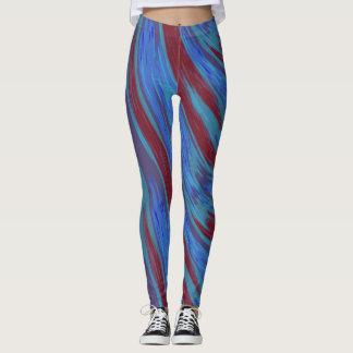 Rotes Blau-FarbSwish abstrakt Leggings