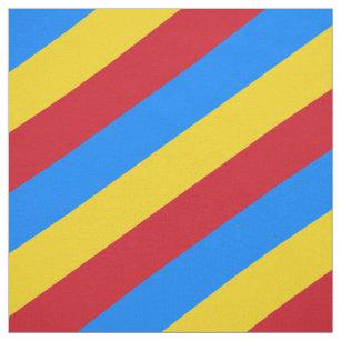 Rotes, blaues und gelbes gestreiftes Muster Stoff