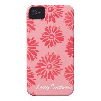 Rotes Blumen-BlackBerry-mutiger Kasten iPhone 4 Case-Mate Hülle