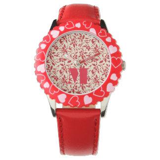 Rotes Blumen Uhr