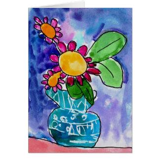 Rotes Blumenblatt durch Elyse Bobczynski, Alter 5 Mitteilungskarte