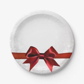 Rotes Bogen-u. Goldweißes Schein-Feiertags-Party Pappteller
