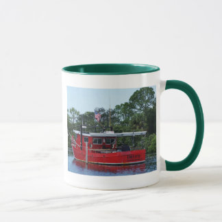 Rotes Boot Tasse