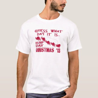 Rotes Buckel-TagesweihnachtsShirt T-Shirt
