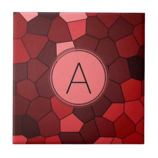 Rotes Buntglas-Mosaik Keramikfliese