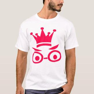Rotes Cartoon-Gesicht mit Krone T-Shirt