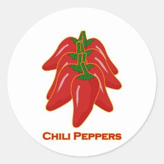Rotes Chili-Paprikaschoten-Logo Runder Aufkleber