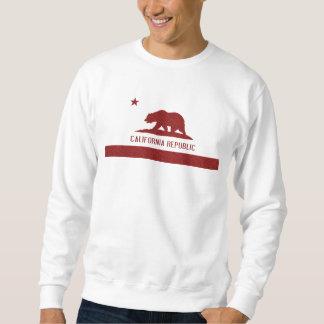 Rotes Damast-Kalifornien-Republik-Flaggent-shirt Sweatshirt
