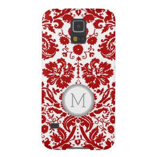 Rotes Damast-Monogramm Samsungs Samsung Galaxy S5 Hüllen