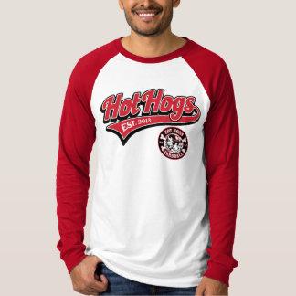 Rotes der Baseball-Shirt heißer Hogs™ klassischer T-Shirt