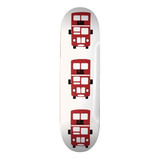 Rotes Doppeldeckerbus Skateboard
