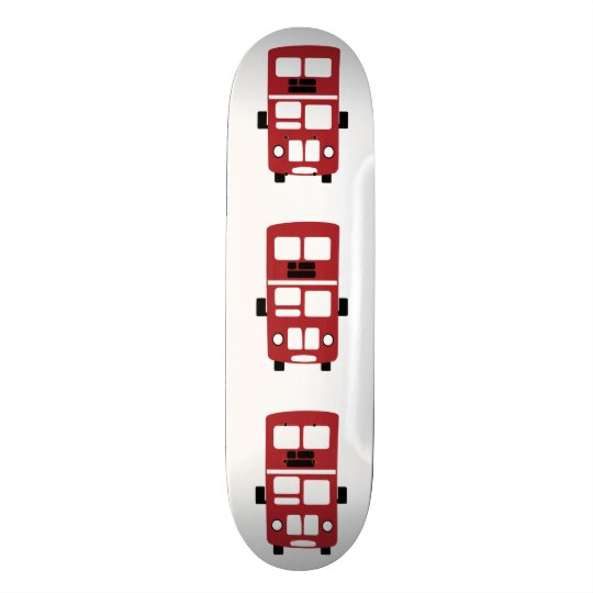 Rotes Doppeldeckerbus Skateboard Skateboarddeck