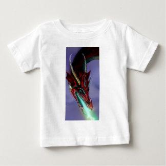 Rotes Drache-Feuer flammt magisches niedliches Baby T-shirt