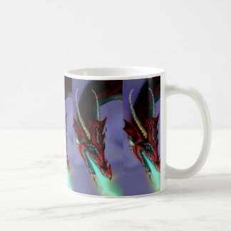Rotes Drache-Muster Kaffeetasse