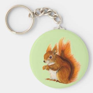 Rotes Eichhörnchen-Aquarell-Malerei-Geschenke und Schlüsselanhänger
