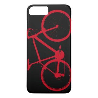 rotes Fahrrad, fahrend rad iPhone 8 Plus/7 Plus Hülle