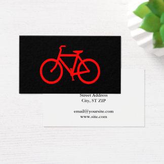 Rotes Fahrrad Visitenkarte