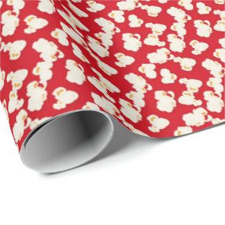 Rotes Filmpopcorn-Muster-Packpapier Geschenkpapier