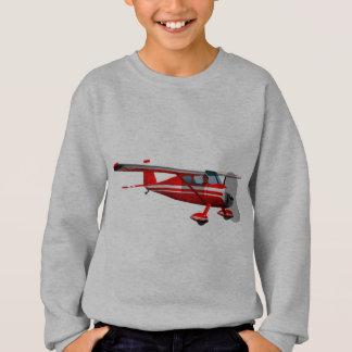 Rotes Flugzeug Sweatshirt