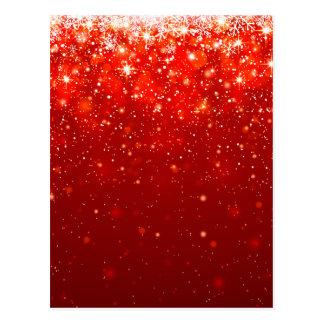 rotes freudiges glänzendes Muster, Postkarte