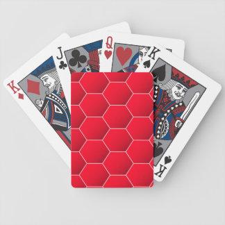 Rotes geometrisches Hexagon Spielkarten