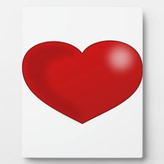 Rotes glattes Valentinsgruß-Herz Fotoplatte