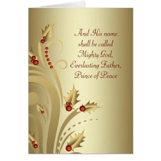 Rotes Goldchristliche Weihnachtskarten Karte