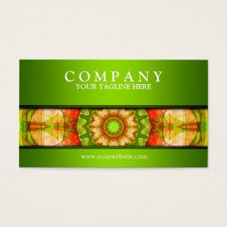 Rotes grünes Apfel-Mandalagrün Visitenkarte