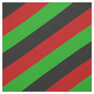 Rotes, grünes und schwarzes gestreiftes Muster Stoff