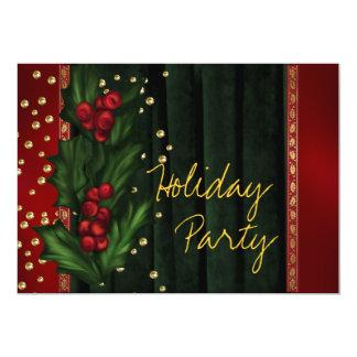 Rotes grünes Unternehmensfeiertags-Party 12,7 X 17,8 Cm Einladungskarte