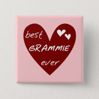 Rotes Herz beste Grammie überhaupt T - Shirts und Quadratischer Button 5,1 Cm