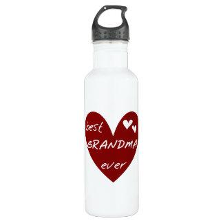 Rotes Herz-beste Großmutter-überhaupt Freiheit Edelstahlflasche