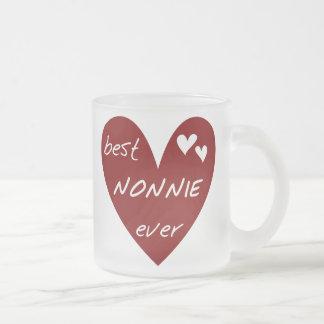 Rotes Herz beste Nonnie überhaupt T - Shirts und Mattglastasse