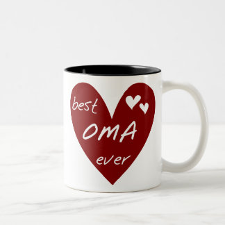 Rotes Herz beste Oma überhaupt T - Shirts und Zweifarbige Tasse