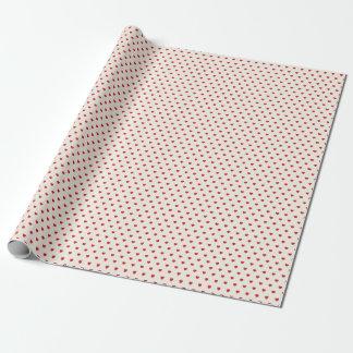 Rotes Herz-Muster-Packpapier Geschenkpapier