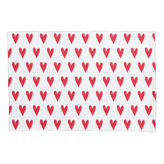 Rotes Herz-Muster | romantisch Kissenbezug