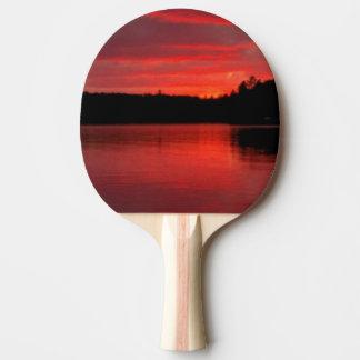 Rotes Himmel Klingeln-pong Paddel Tischtennis Schläger