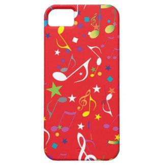 Rotes Hintergrund-Musiknoten icase Schutzhülle Fürs iPhone 5