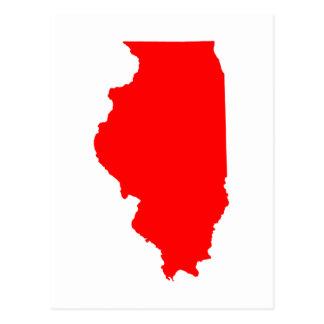 Rotes Illinois Postkarte